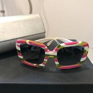 Rare D&G Summer Cruise Striped Square Sunglasses